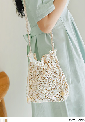 [BAG] ROTEN KNIT STRING CROSS BAG