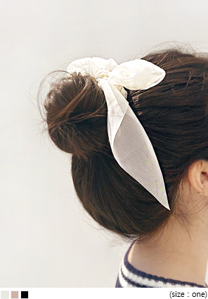 [ACC] ROENNI CHIFFON RIBBON HAIR STRING