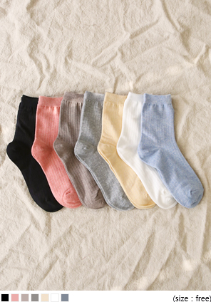 [ACC] SOFT COLOR GOLGI SOCKS